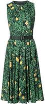 Akris floral print flared dress - women - Cotton - 10