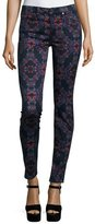 7 For All Mankind The Mid-Rise Kaleidoscope Skinny Jeans, Radiant Stained Glass