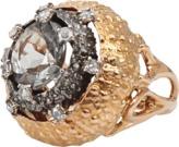 FEDERICA RETTORE Prasiolite Ring with Rose Cut Diamonds