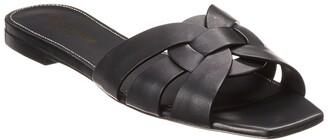 Saint Laurent Tribute Leather Slide