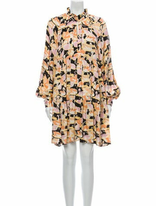 Stine Goya Floral Print Mini Dress Yellow
