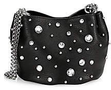 Rebecca Minkoff Women's Ruby Crystal-Embellished Leather Shoulder Bag