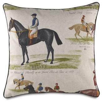 Jockey Eastern Accents Colt Horse Throw Pillow Eastern Accents
