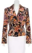 Giorgio Armani Velvet Button-Up Blazer