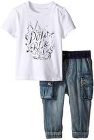 Ralph Lauren Jersey Graphic Tee Denim Pants Set (Infant)