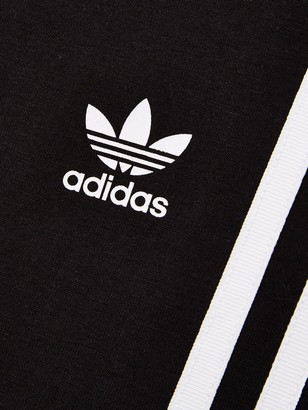 adidas Youth 3 Stripe Leggings - Black/White