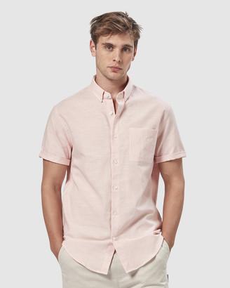 Charlie Holiday Short Sleeve Linen Blend Shirt