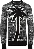 Diesel palm tree detail jumper - men - Nylon/Rayon/Cashmere/Wool - L