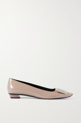 Roger Vivier Belle Vivier Patent-leather Ballet Flats