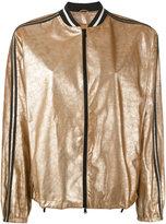 Brunello Cucinelli metallic bomber jacket - women - Leather - 42