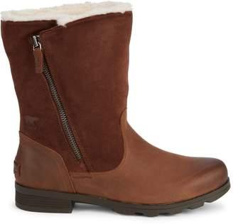 Sorel Emelie Faux Fur-Lined Leather Boots