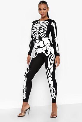 boohoo Halloween Skeleton Jumpsuit