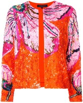 Manish Arora floral pattern sequin jacket
