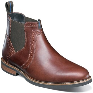 Nunn Bush Otis Plain Toe Chelsea Boot - Wide Width Available