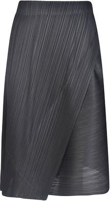Pleats Please Issey Miyake Diagonal Pleats Skirt