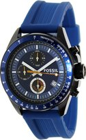 Fossil Men's Decker CH2879 Silicone Quartz Watch with Dial