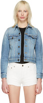 Saint Laurent Blue Denim love Jacket