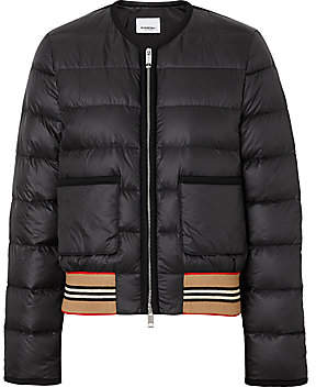 Burberry Women's Bruntsfield Nylon Bomber Puffer Jacket