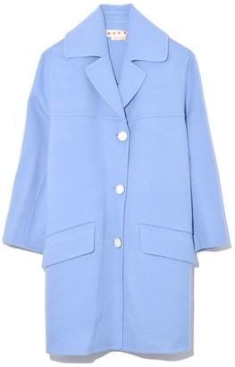 Marni Double Wool Cashmere Coat in Opal