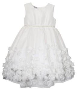 Blueberi Boulevard Toddler Girls Flower Petal Skirt with Jewelled Belt Dress