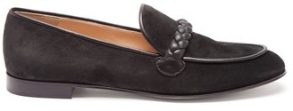 Gianvito Rossi Benny Leather-trimmed Suede Loafers - Black