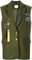 Mira Mikati Scout Patch sleeveless jacket
