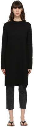 Totême Black Merino Slit Knit Sweater