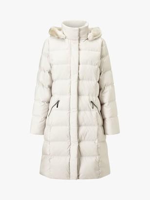 Four Seasons Puffer Faux Fur Hood Coat