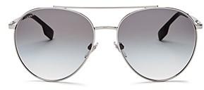 Burberry Women's Brow Bar Aviator Sunglasses, 59mm