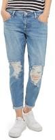 Topshop Petite Women's Lucas Rip Boyfriend Jeans