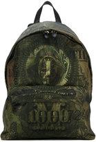 Givenchy dollar print backpack - men - Cotton/Polyamide/Polyurethane - One Size