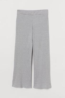 H&M Ribbed Pants - Gray