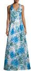 theia sleeveless floralprint ball gown