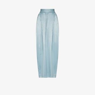 PARIS GEORGIA High Waist Pleated Maxi Skirt