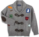 Andy & Evan Boys' Patches Toggle Cardigan