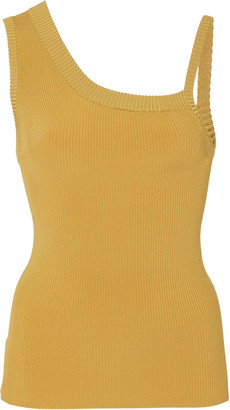 Peter Do Asymmetric Ribbed-Knit Tank Top