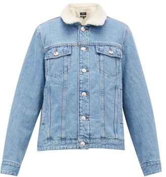 A.P.C. Faux Shearling-lined Denim Jacket - Womens - Denim