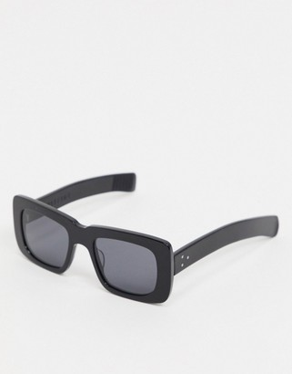 Spitfire Cut Thirteen square sunglasses in black