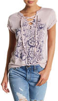 Jessica Simpson Magnolia Led By Love Lace-Up Tee