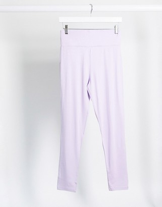 ASOS DESIGN Hourglass mix & match co-ord deep waistband legging in lilac
