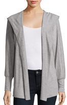 Nanette Lepore Open Front Heathered Jacket