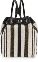 Kelsi Dagger Dusen Striped Canvas Drawstring Backpack, Black/Multi