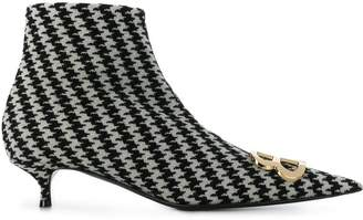 Balenciaga BB houndstooth booties