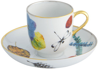 Christian Lacroix Caribe Espresso/Coffee Cups & Saucers, Set of 4