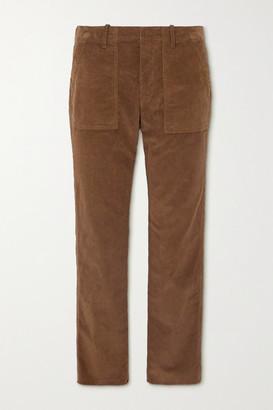 Nili Lotan Jenna Cropped Cotton-blend Corduroy Slim-leg Pants - Brown