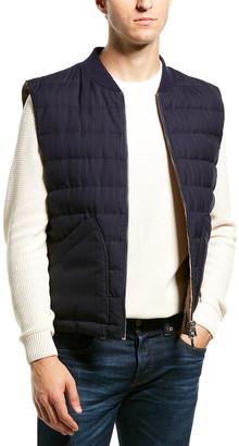 Brunello Cucinelli Wool & Feather Reversible Puffer Vest