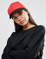 Asos Basic Baseball Cap In Color Block Mesh