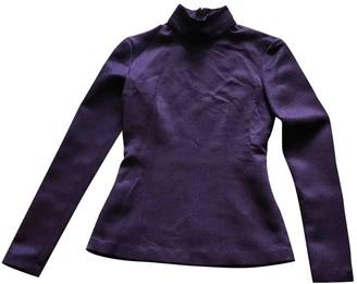 Barbara Casasola Purple Wool Top for Women