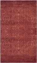 Safavieh TB317R-6 Tibetan Collection Hand-Knotted Silk and Wool Area Rug, 6-Feet by 9-Feet