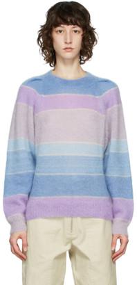 Etoile Isabel Marant Blue and Purple Daniel Sweater